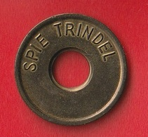 """JETON DE PARKING OU DE BARRIERE  """" SPIE TRINDEL (1984) """" - Professionals / Firms"""