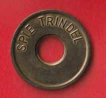 "JETON DE PARKING OU DE BARRIERE  "" SPIE TRINDEL (1984) "" - Profesionales / De Sociedad"