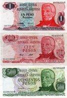 ARGENTINA-LOTTO 3 BANCONOTE-1,100,500 PESO VF-UNC - Argentina