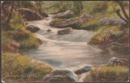 Badgworthy Valley Waterslide, Exmoor, Devon, 1923 - Frith's Postcard - England