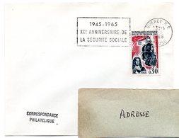CREUSE - Dépt N° 23 = GUERET RP 1965 = FLAMME SECAP  ' 1945 / 20e ANNIVERSAIRE / SECURITE SOCIALE ' - Sellados Mecánicos (Publicitario)
