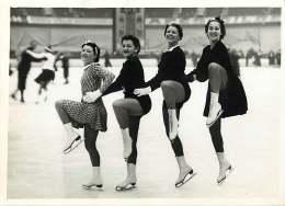 160618 - PHOTO DE PRESSE 1937 SPORT Patinage Palais Des Sports BOSSOUTROT VAUDECRANE SCWEICK CLERICETTI DIOT - Sporten