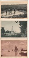 Lot 3 CPA Viet Nam Cantho Monument, Cochinchine Dessèchement D'un Arroyo, Rivière De Saigon Non Circulées - Viêt-Nam