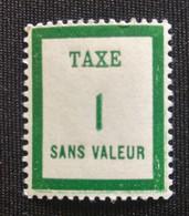 France Fictifs  Taxe Neuf N° 14 - Fictie