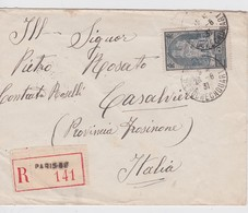 FRANCE 1931 LETTRE RECOMMANDEEE DE PARIS AVEC CACHET ARRIVEE CASALVIERI - 1921-1960: Modern Tijdperk