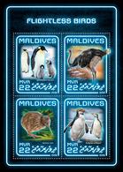 MALDIVES 2018 - Flightless Birds, Penguins. Official Issue - Pinguïns & Vetganzen