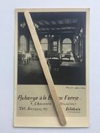 GENAPPE-GLABAIS «AUBERGE À LA BONNE FERME VÉRITABLE PHOTO CARTE RARE(1951) Édit Photo STROBBE ,Gevaert. - Genappe