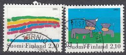 FINLAND - 1991 - Due Valori Usati: Yvert 1116 E 1117, Come Da Immagine. - Finlande