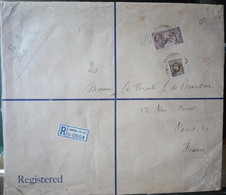 GB - 1937 - ENVELOPPE TRES GRAND FORMAT (29X25) RECOMMANDEE De LONDRES => PARIS - TARIF ! - 1902-1951 (Kings)