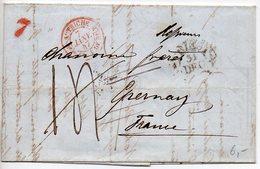 CaD D'entrée 'Autriche Bureau Français De Bâle' Sur Lettre De Trieste De 1847 - Postmark Collection (Covers)