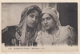 8AK1233 AFRIQUE SCENES ET TYPES MAURESQUES 2 SCANS - Postcards