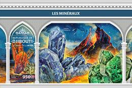 DJIBOUTI 2018 - Minerals, Volcano S/S. Official Issue - Vulcani