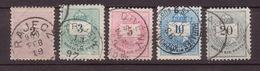 HUNGARY 1874-1898 Used Set 1 - Postage Due