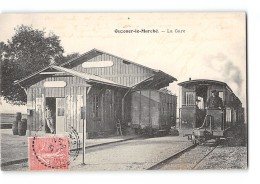 CPA 41 Ouzouer Le Marché La Gare Et Le Train Tramway - Other Municipalities