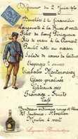 Déjeuner Du 2 Juin 1920 Representation Timbre Anglais Facteur Liqueur Benedictine - Menükarten