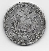 VENEZUELA - 900 LEI  ARGENT - 1900 - Venezuela