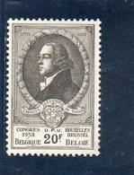 BELGIEN 1952 ** - Belgien