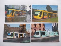MELBOURNE (AUSTRALIE) : YARRA TRAMS - LOT De 4 CPM  Tramway CITADIS (Lot 1) Dont Ex Motrice De MULHOUSE Voir Les Scans - Tramways