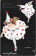 Pierrot Et Colombine Illustration De SANDFORD. L'attrapera, L'attrapera Pas - Fantasie