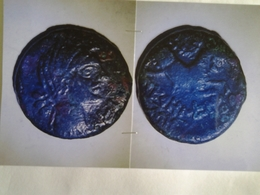 Neronken Bronze Au Taureau Tête à Dr Rv / Taureau Bondissant à Dr - Gauloises