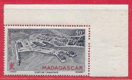 Madagascar PA N°63 50F Bleu-gris & Rouge1946 ** - Madagascar (1889-1960)
