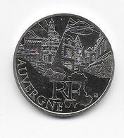 2011 - 10 EURO Des REGIONS  ARGENT - AUVERGNE - NON CIRCULEE - France
