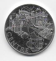 2011 - 10 EURO Des REGIONS  ARGENT - CENTRE - NON CIRCULEE - France