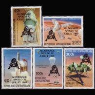 C.A.R. 1979 - Scott# 391-2+C212-4 Apollo Opt. Set Of 5 MNH - Repubblica Centroafricana