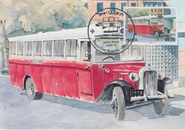 Malta Maximum Card 18 Mi 1667 Buses - The End Of An Era - Reo Bus - Birkirkara - Malta