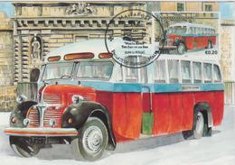 Malta Maximum Card 19 Mi 1668 Buses - The End Of An Era - Dodge T110L, Zabbar - Malta