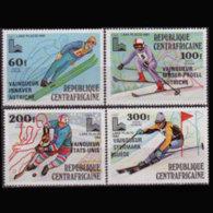 C.A.R. 1980 - Scott# C224-7 Olympics Winners Set Of 4 MNH - Repubblica Centroafricana