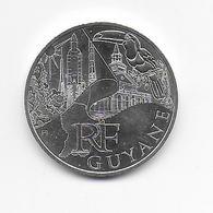 2011 - 10 EURO Des REGIONS  ARGENT - GUYANE - NON CIRCULEE - France
