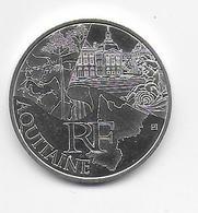 2011 - 10 EURO Des REGIONS  ARGENT - AQUITAINE - NON CIRCULEE - France