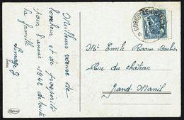 """COB N°  426  - Oblitération Dépôt-relais : """" * CORROY-LE-CHÂTEAU * - 2/I/1942 """" - Postmark Collection"""
