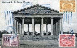 GUATEMALA TEMPLO MINERVA  POSTED IN 1926 STAMPS (3) - Guatemala