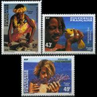 FR.POLYNESIA 1986 - Scott# 430-2 Boys Set Of 3 MNH - French Polynesia