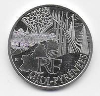 2011 - 10 EURO Des REGIONS  ARGENT - MIDI PYRENEES - NON CIRCULEE - France