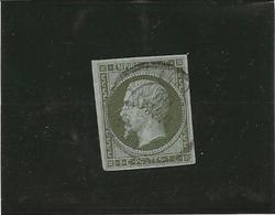 TIMBRE NAPOLEON III NON DENTELE N° 11 - TB  -ANNEE 1860  - COTE : 90 € - 1853-1860 Napoleone III