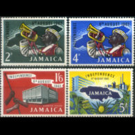 JAMAICA 1960 - Scott# 181-4 Indep.State Set Of 4 MNH - Jamaica (1962-...)
