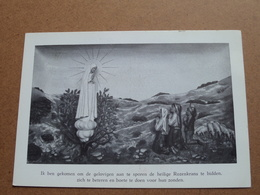 Verering Onze Lieve Vrouw Van FATIMA ( Nonnenstraat 1 Roeselare ) Anno 19?? ( Zie Foto's ) ! - Virgen Maria Y Las Madonnas