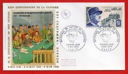 FDC 25EME ANNIVERSAIRE DE LA VICTOIRE - WW2