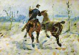 H De TOULOUSE LAUTREC Deux Chevaux Menée En Main (1882) RV - Paintings