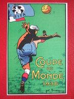 "FOOTBALL - ""  COUPE DU MONDE 1938 En France ""- ILLUSTREE : JOE BRIDGE 1937 - FOOT - FIFA - ETAT: SUPERBE - "" TRES RARE "" - Fútbol"