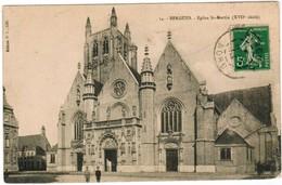 CPA Bergues, Façade De L'Eglise Saint MArtin (pk48249) - Bergues