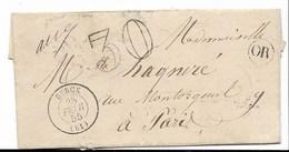 BERCK - Pli Daté Du 28 Février 1855 - ( 11 X 6 Cm) - TB état ( Voir Scans Et Descriptif ) - 1849-1876: Période Classique