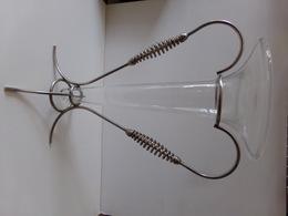 VASE SUR SOCLE EN VERRE ET METAL 37.5 X 26 CM 770 GR - Glass & Crystal