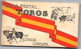 20 Postales De Corrida Completa De Toros + Entrada De Toros Valencia De 1928 - Corridas