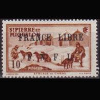 ST.PIERRE 1942 - Scott# 226 Dog Team 10c LH - St.Pierre Et Miquelon