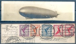 """Luftpost Frankatur  """"Chemnitz - Friedrichshafen - Zeppelin""""           1930 - Allemagne"""
