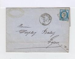 Type Céres 25c. Bleu Type II Sur Lettre. Cachet Montélimar Gros Chiffres 2448. (532) - Marcophilie (Lettres)